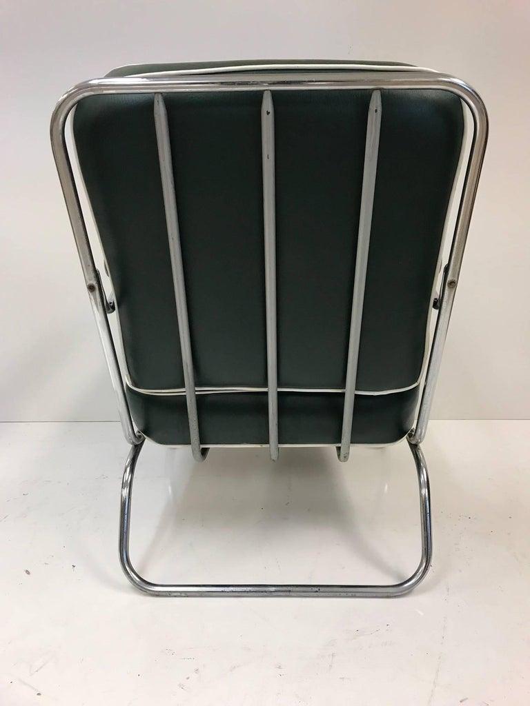 Mid-20th Century Pair of KEM Weber for Lloyd Tubular Chrome Lounge Chairs For Sale