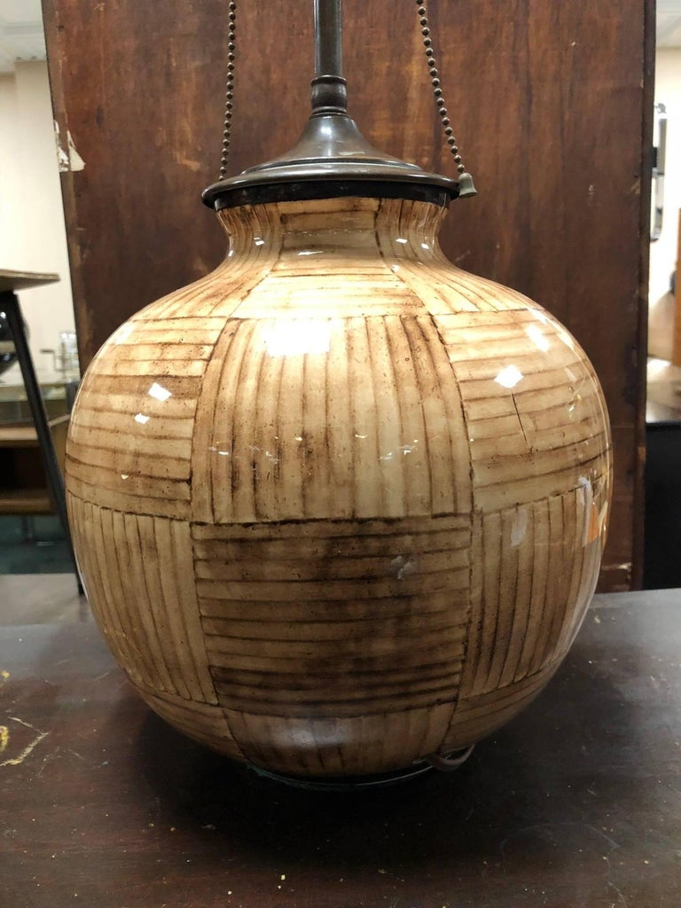 Gio Ponti for Richard Ginori Ceramic Lamp In Good Condition For Sale In New York, NY