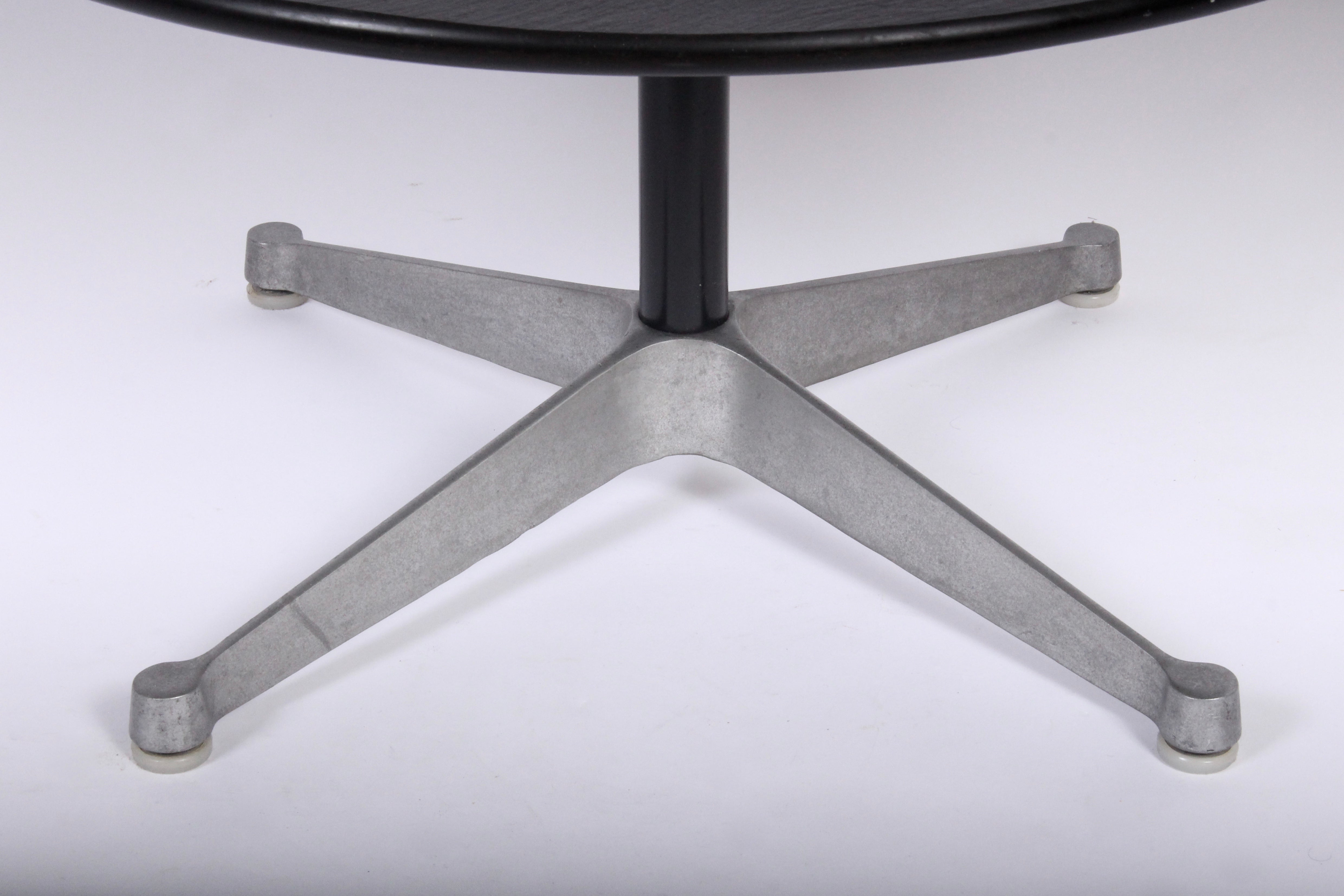 Charles Eames For Herman Miller Gray Slate And Cast Aluminum Coffee Table 1960s