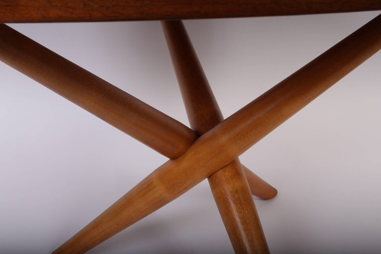 Early 1950s T. H. Robsjohn-Gibbings for Widdicomb Tripod Occasional Table 3