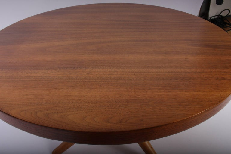 Early 1950s T. H. Robsjohn-Gibbings for Widdicomb Tripod Occasional Table 5