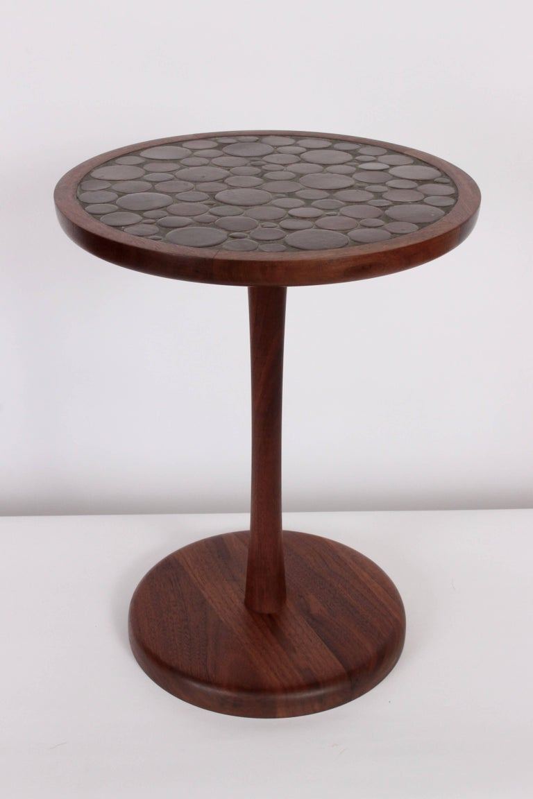 Gordon martz for marshall studios walnut and ceramic occasional table circa 1950 for sale at - Ceramic pedestal table base ...