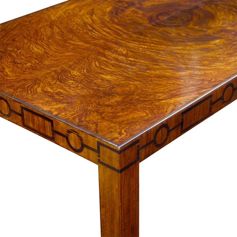 Very Fine Swedish Modern Classicism Coffee Table With Burl