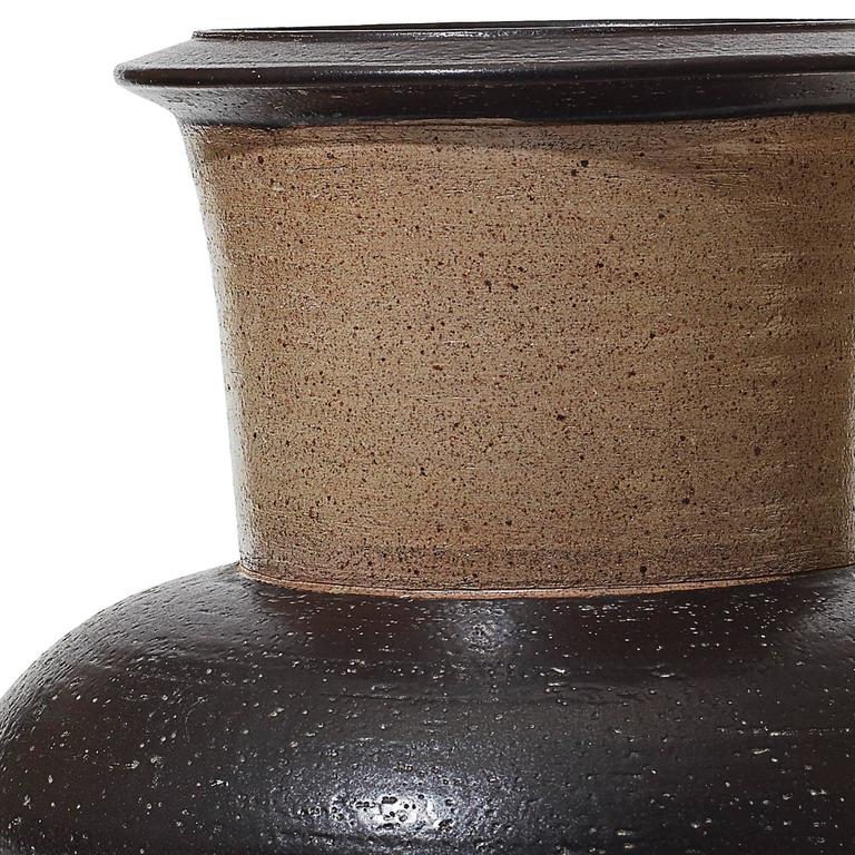 Striking and Textured Monumental Vase by Nils Kähler 2