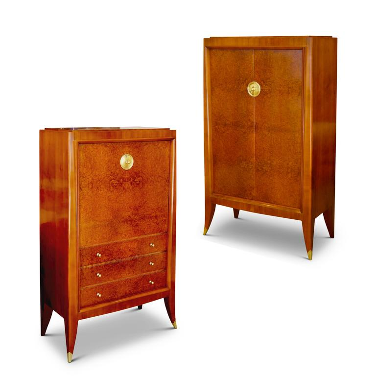 Art Deco Very Fine Storage Cabinet of an Original Office Duo by Alfred Porteneuve For Sale