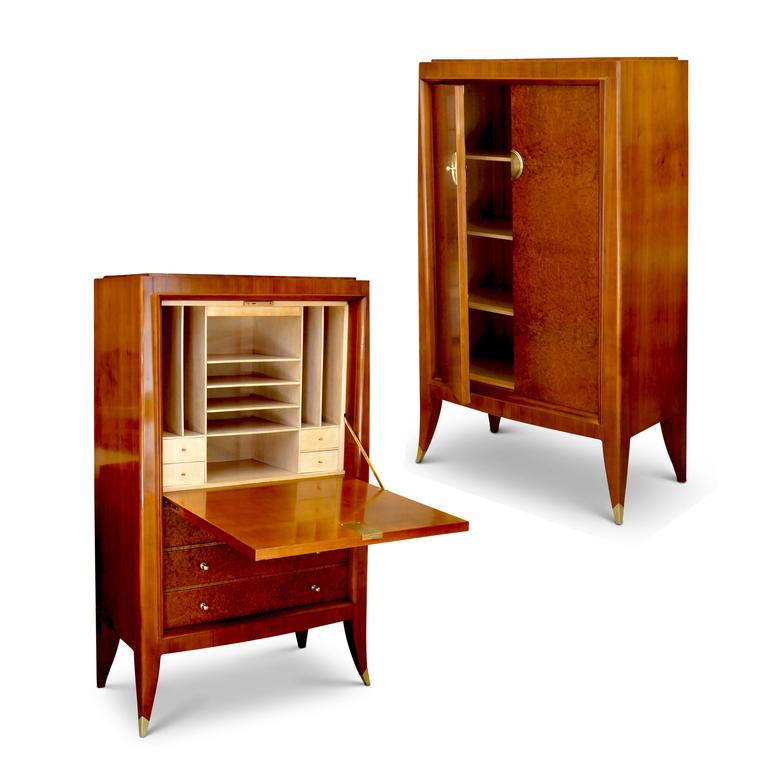 French Very Fine Storage Cabinet of an Original Office Duo by Alfred Porteneuve For Sale