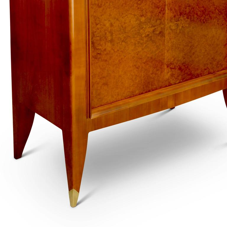 Amboyna Very Fine Storage Cabinet of an Original Office Duo by Alfred Porteneuve For Sale