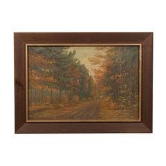 Art Deco Dutch Impressionist Autumn Landscape
