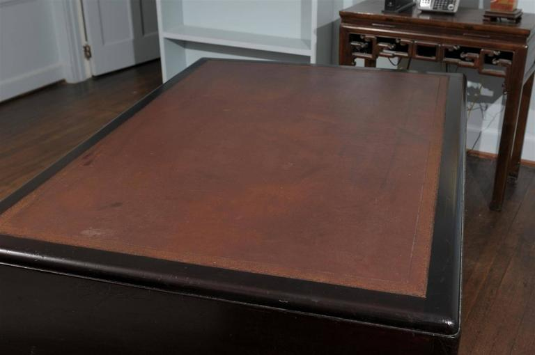 English Art Deco Pedestal Desk For Sale 1