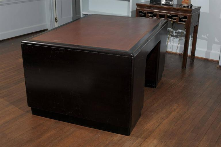 English Art Deco Pedestal Desk For Sale 2