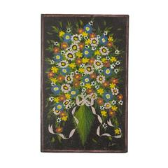 Vintage Floral Bouquet Oil on Board