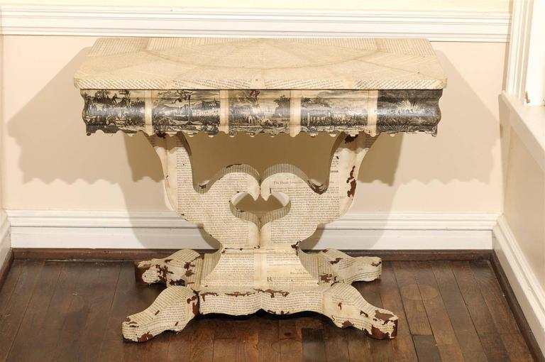 American Empire Decoupage Table For Sale 1