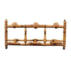 Antique French Pine Coat Rack