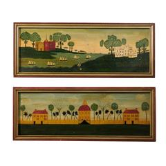 Pair of British Colonial Style Paintings