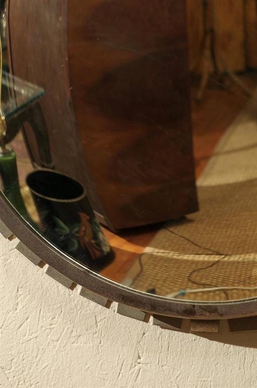 Vintage Industrial Convex Mirror For Sale 1