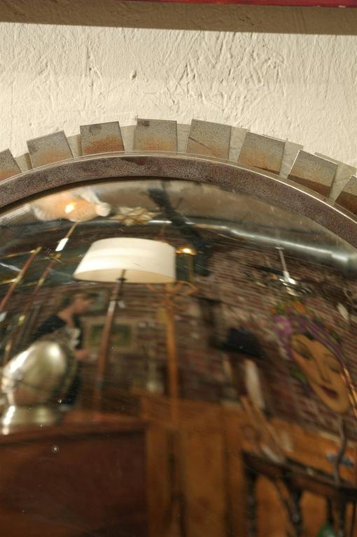 Vintage Industrial Convex Mirror For Sale 3