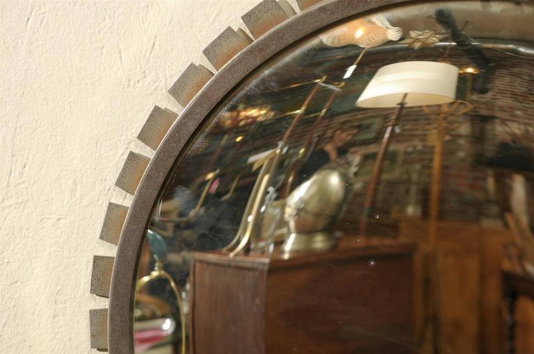 Vintage Industrial Convex Mirror For Sale 2