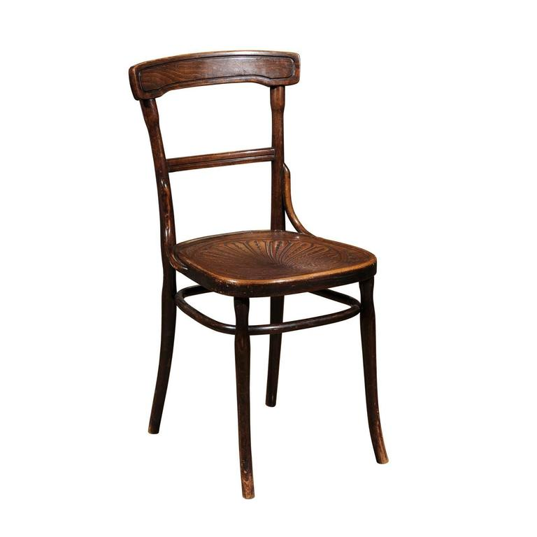 Thonet Style Bentwood Chair With Pressed Seat At 1stdibs