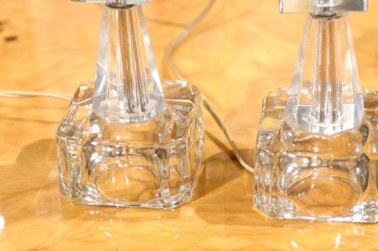 Mid-20th Century Pair of Petite Art Deco Lamps For Sale