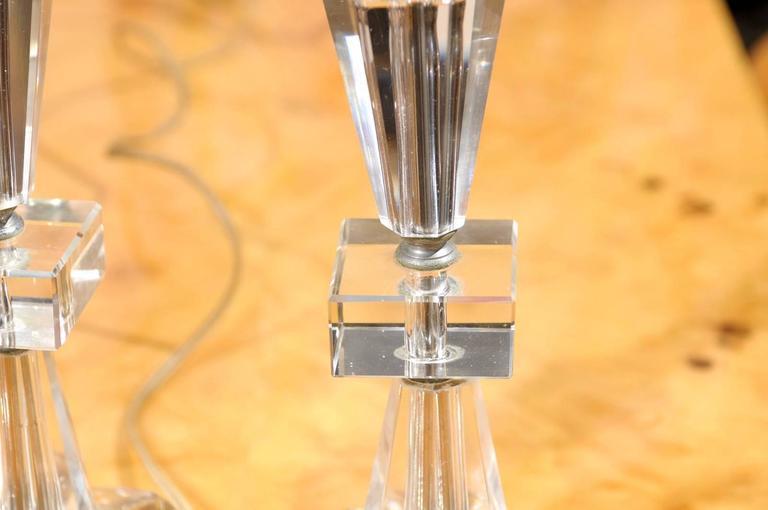 Pair of Petite Art Deco Lamps For Sale 1
