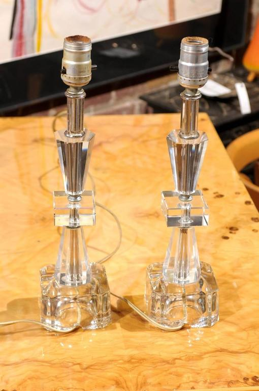 Pair of Petite Art Deco Lamps 2