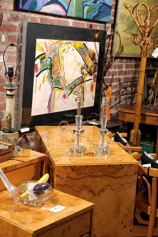 Pair of Petite Art Deco Lamps In Excellent Condition For Sale In Atlanta, GA