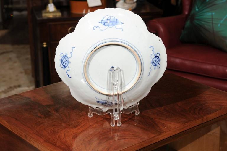 Porcelain Japanese Shell Shaped Imari Plate  For Sale