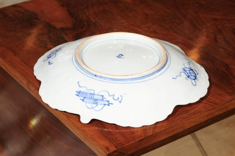 Japanese Shell Shaped Imari Plate  For Sale 1