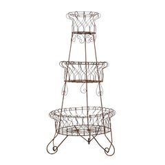 French Three-Tier Wire Planter