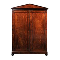 Louis Philippe Flame Mahogany Armoire