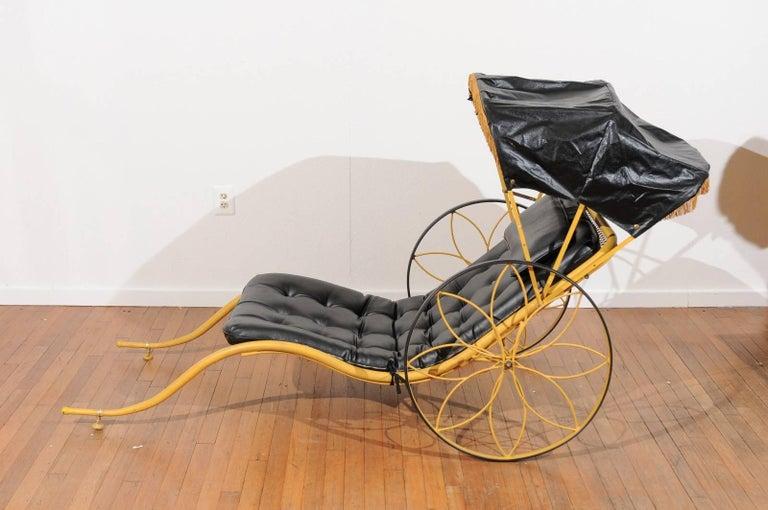Metal Mid-Century Rickshaw by Russell Woodard For Sale