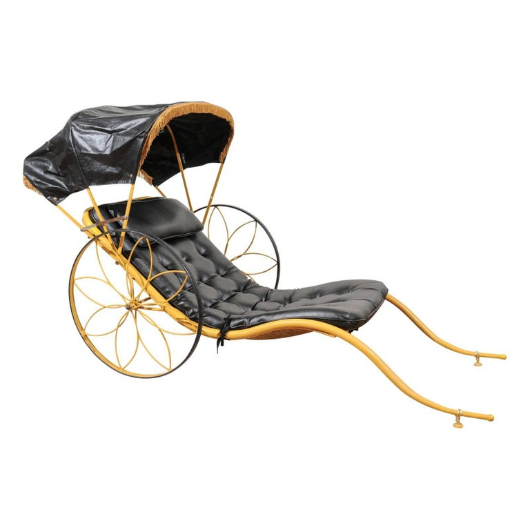 Mid-Century Rickshaw by Russell Woodard For Sale