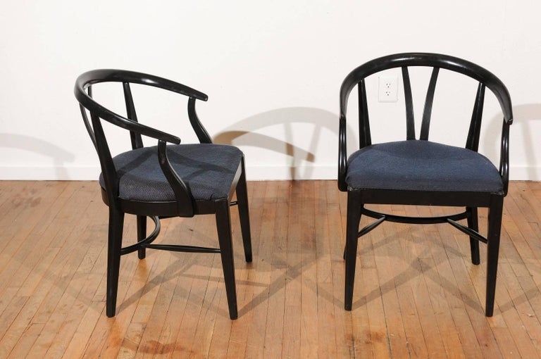 Set of Six Mid-Century Dining Chairs In Good Condition For Sale In Atlanta, GA