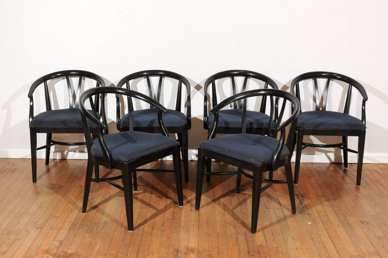 Mid-Century Modern Set of Six Mid-Century Dining Chairs For Sale