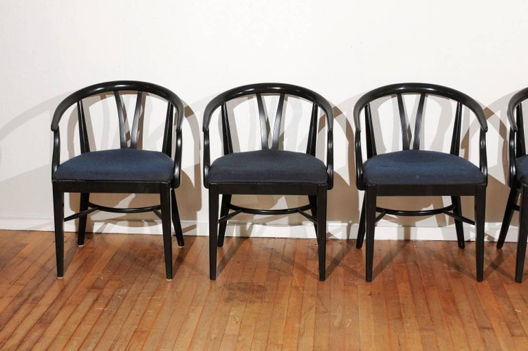 Set of Six Mid-Century Dining Chairs For Sale 2