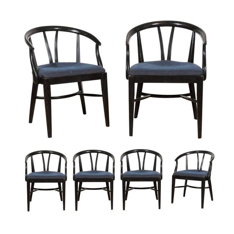 Set of Six Mid-Century Dining Chairs For Sale