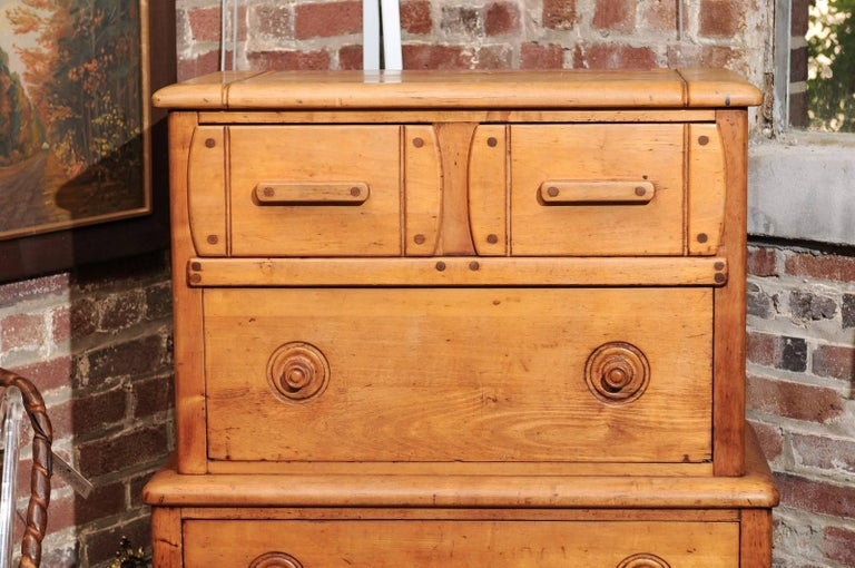 English Pine Secretaire For Sale 1