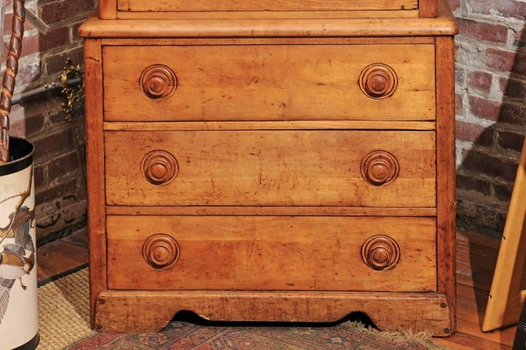 English Pine Secretaire For Sale 2