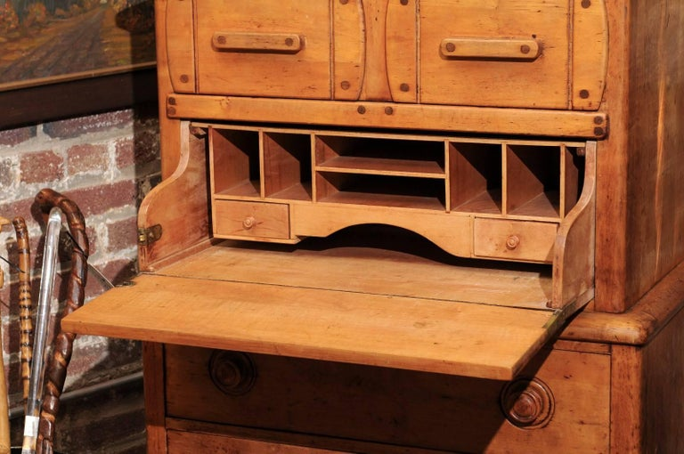 English Pine Secretaire For Sale 3