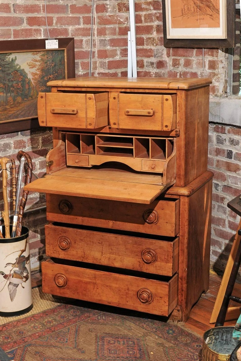 English Pine Secretaire For Sale 4