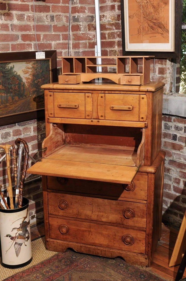 English Pine Secretaire For Sale 6