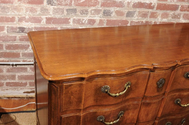 20th Century Louis XV Style Commode of Walnut For Sale