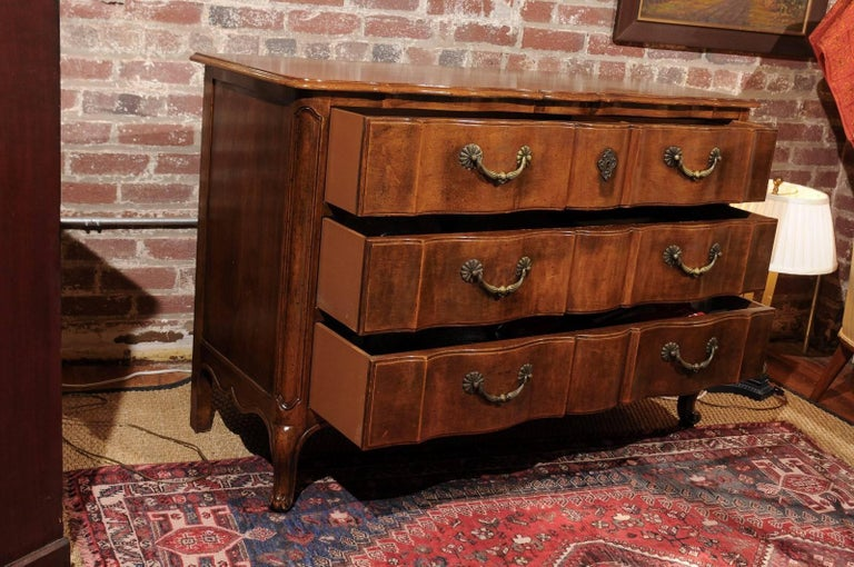 Louis XV Style Commode of Walnut For Sale 1
