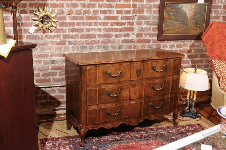 Louis XV Style Commode of Walnut For Sale 3
