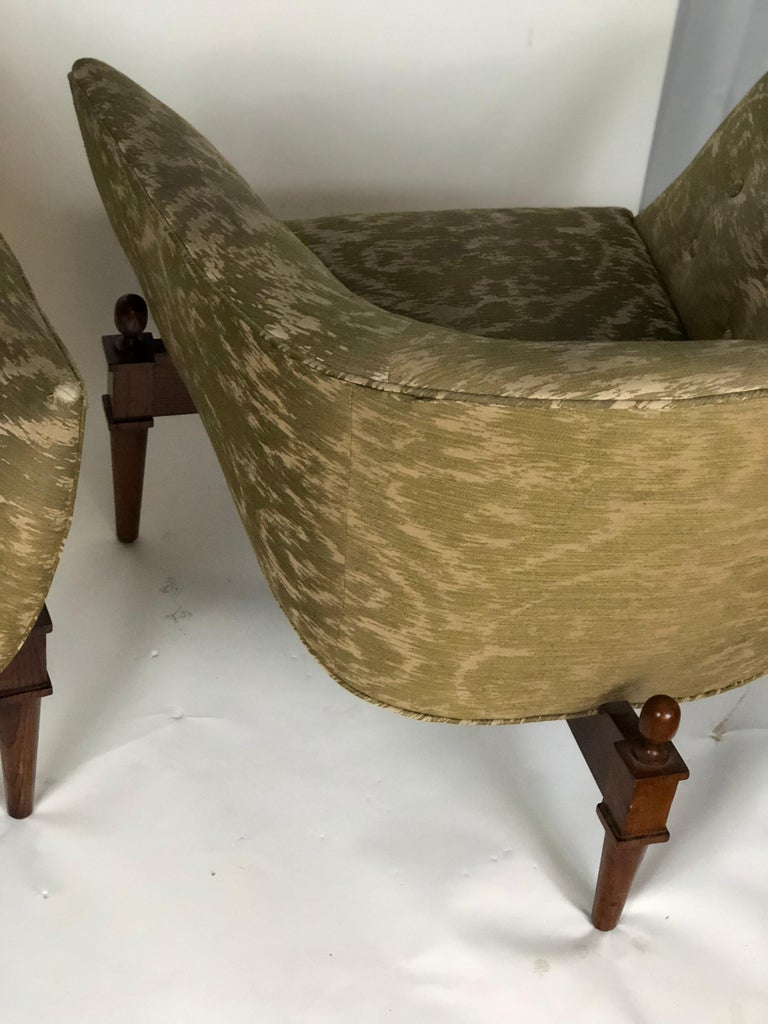 Pair of Midcentury Style Club Chairs For Sale 1