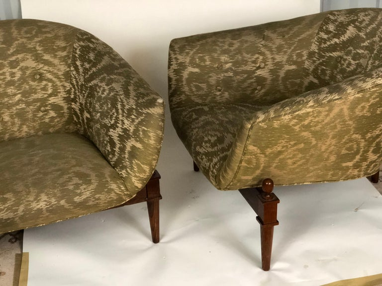 Pair of Midcentury Style Club Chairs For Sale 2