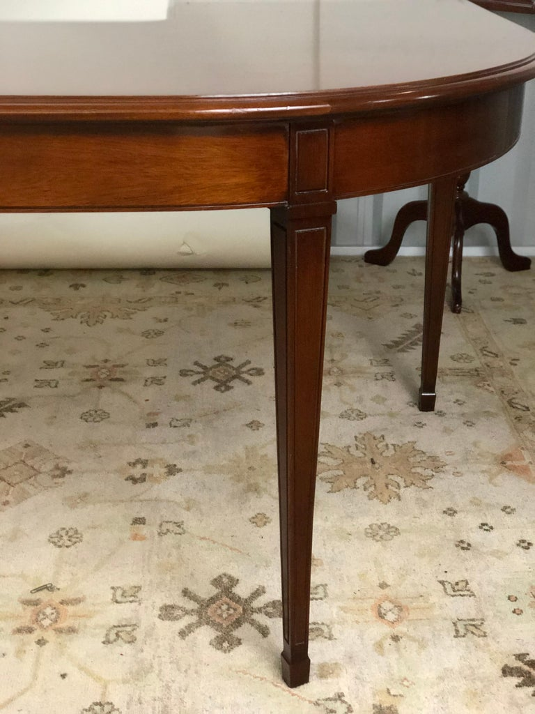 Mahogany Drop Leaf Demilune Desk In Good Condition For Sale In Atlanta, GA
