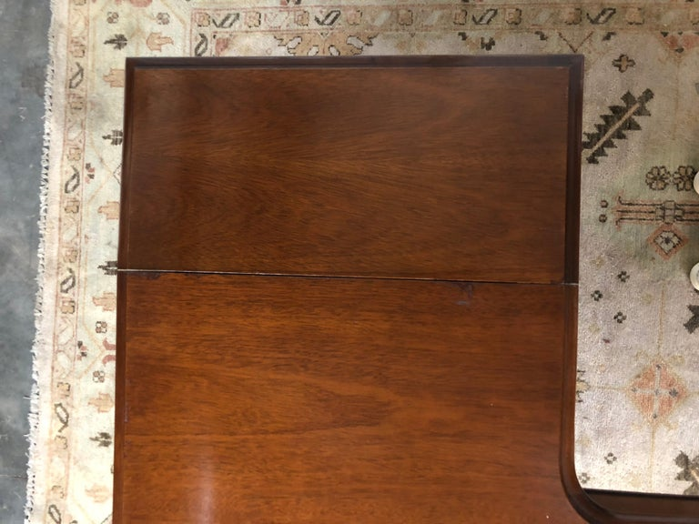 Mahogany Drop Leaf Demilune Desk For Sale 1