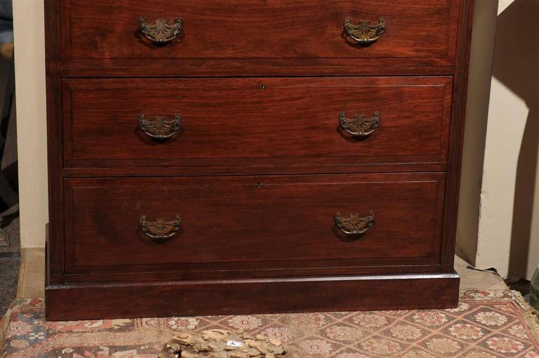 Brass 19th Century English Mahogany Chest  For Sale