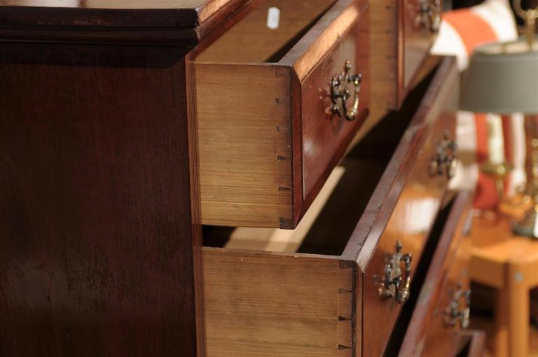 19th Century English Mahogany Chest  For Sale 1